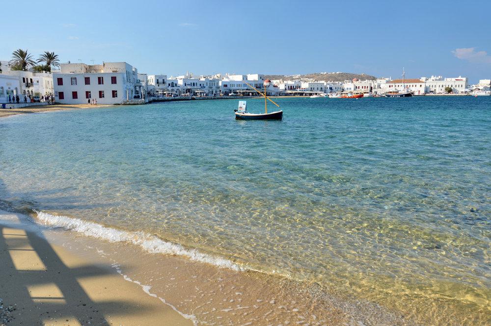A quiet beach in the town