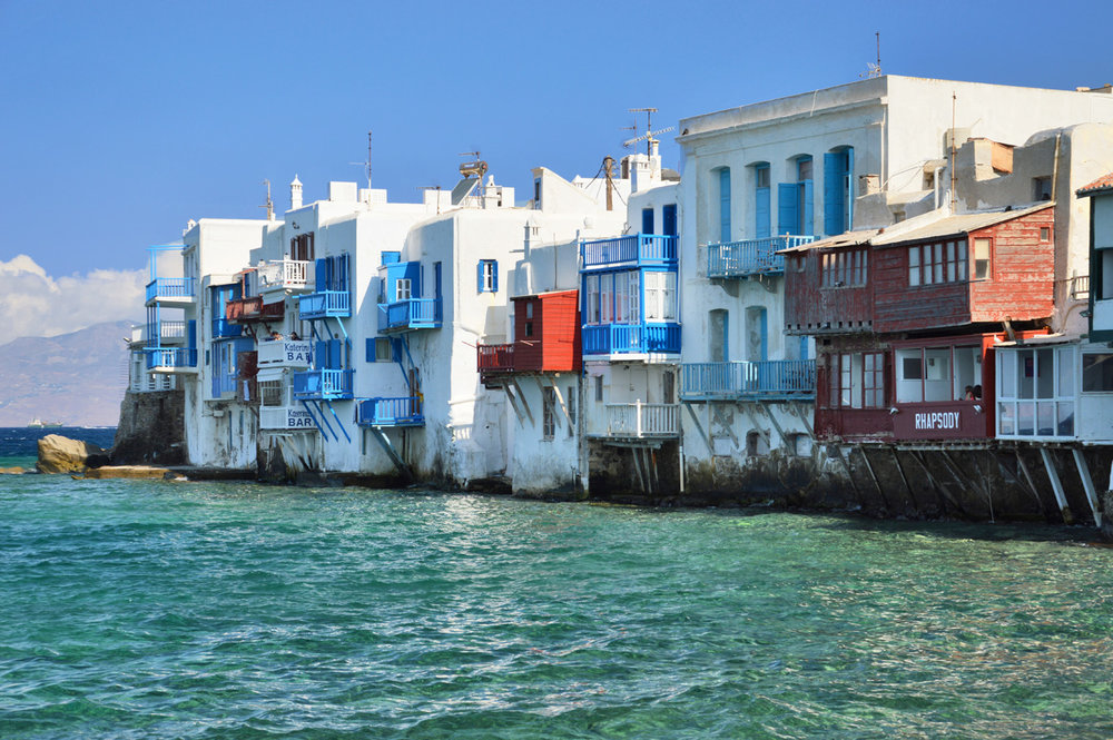 The typical houses in Mykonos