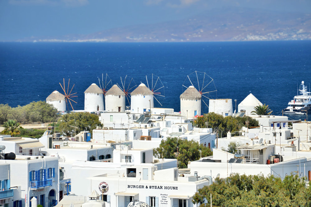 Beautiful windmills and the coast
