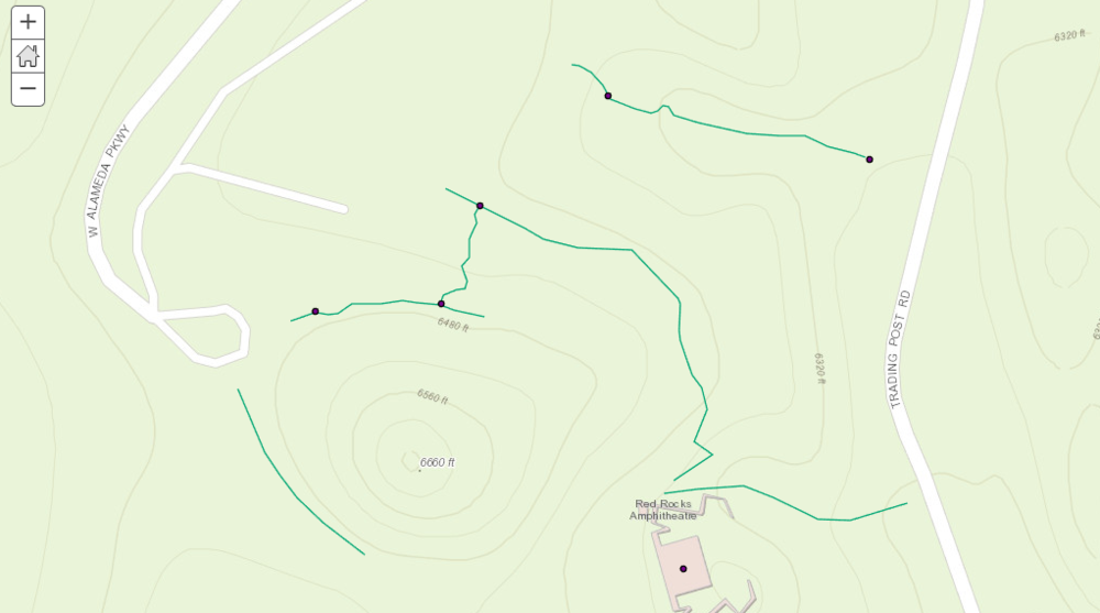 ArcGIS Online Map of Red Rocks