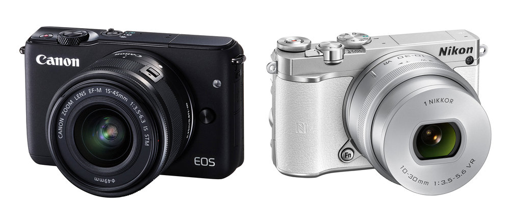 Canon EOS M10 & Nikon 1 J5