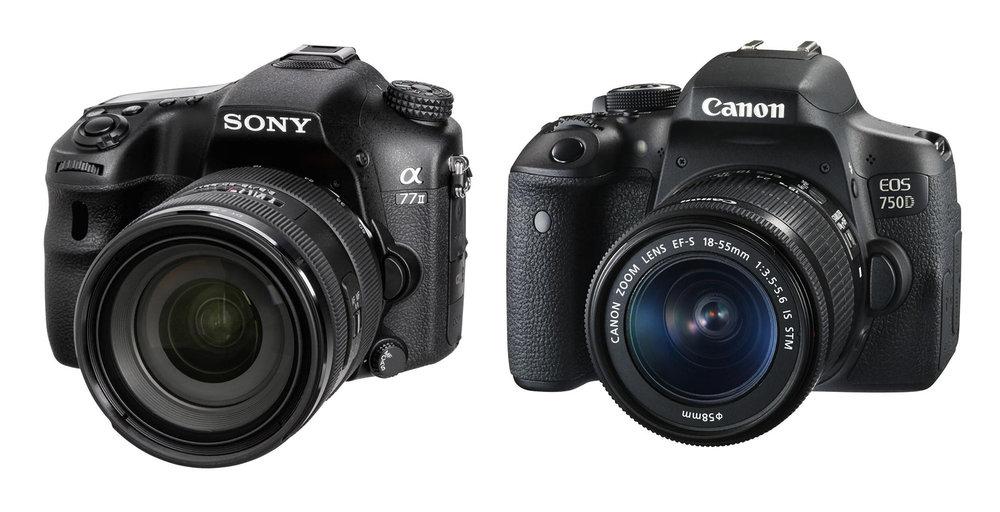 Sony A77 & Canon EOS 750D