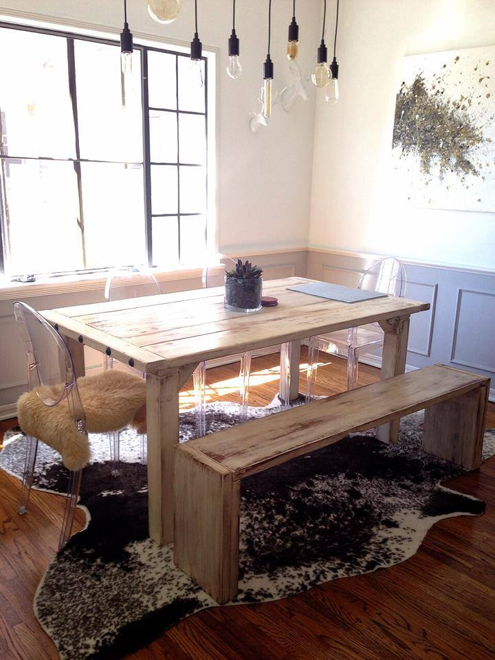 Sky White Dining Table