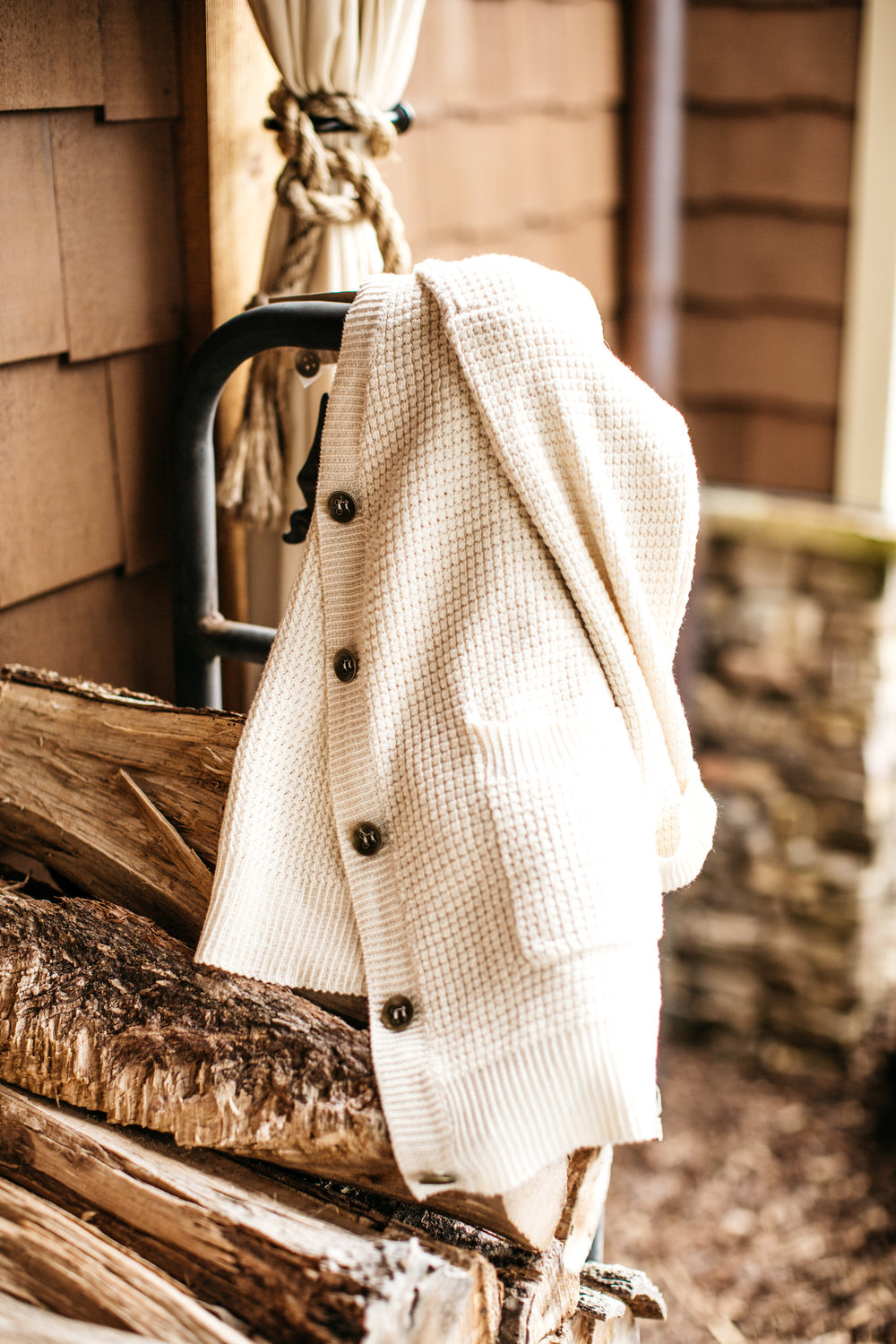 Hamptons Cardigan in Cream (shop in our store!)