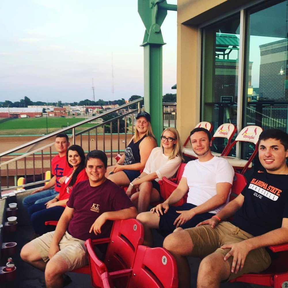 SRC interns enjoyed a night of networking and socializing at the Springfield Cardinals baseball game.