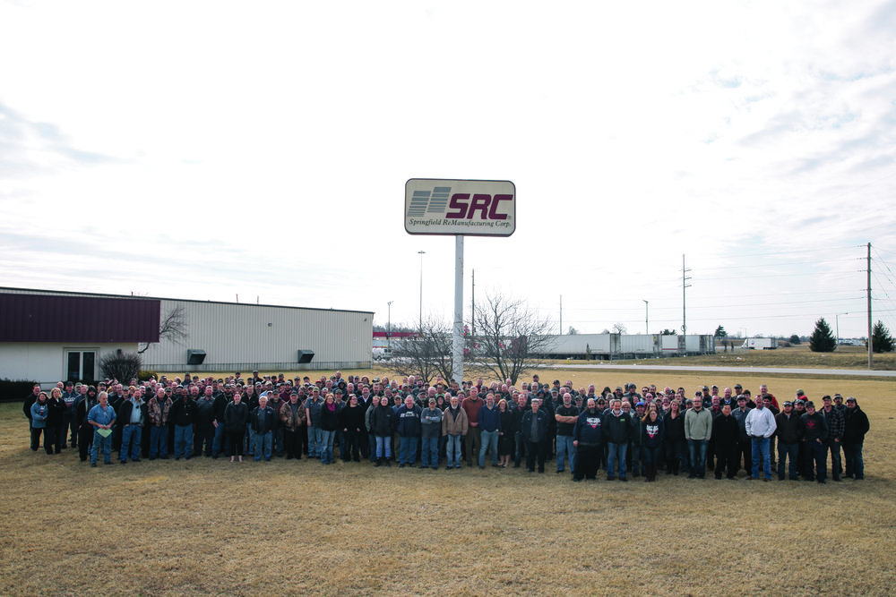 SRC Heavy Duty employee owners at the 650 North Broadview Place facility in Springfield, Missouri.