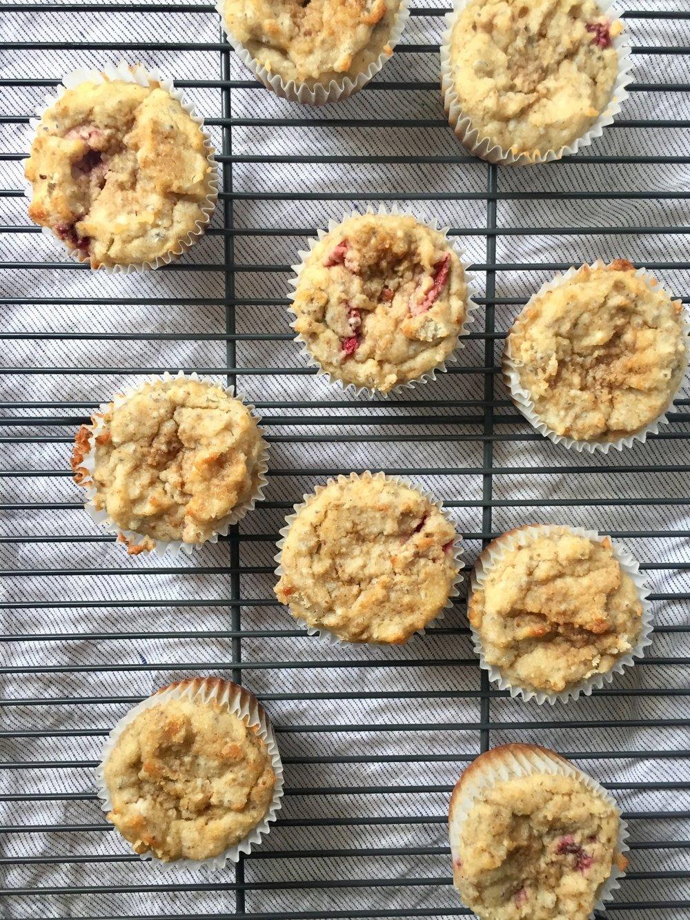 Strawberry-Banana Muffins