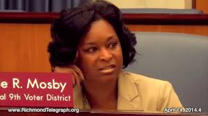 "Michelle "" Teamwork Makes the Dream Work  "" Mosby, 9th District  @MsHelpMeHelpYou   Facebook      She's a quoter.    Mosby's support of the  ""ban the box"" ordinance  will be her greatest legacy. Now applicants for city jobs do not have to disclose past felony convictions in the initial application process.  Ord. No. 2013-40  was passed unanimously on March 25, 2013. She told the RTD that helping people with issues such as these is why she became a council woman. She didn't win her bid for mayor and has been rather quiet since election day, but it is my hope that she stays involved in the city she so obviously loves."