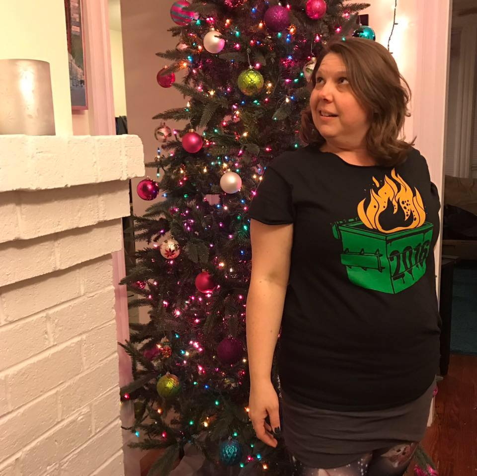 Melissa Vaughn decked out for New Years Eve.