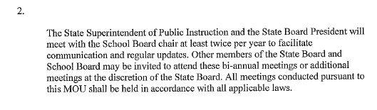 Petersburg City Public Schools MOU language regarding bi-annual meetings.