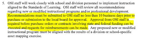 Richmond City Public Schools MOU language regarding instructional programs and professional development.