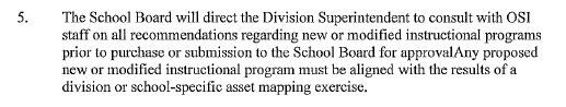 Petersburg City Public Schools MOU language regarding instructional programs.