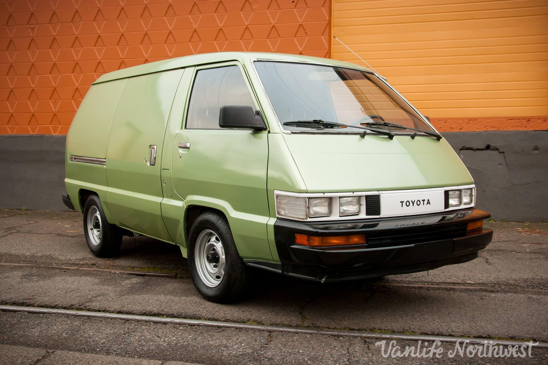 1986 Toyota Cargo Van 2wd Gas Manual Vanlife Northwest