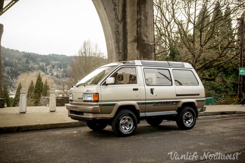 1988 Toyota Lite Ace 4wd Van Vanlife Northwest