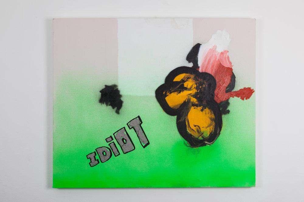 Hetty Douglas,You Are, 2018, Acrylic, oil, spray paint and polly filler on canvas, 77x92 cm. Photograph by Ekphrasis © dateagleart 2018.