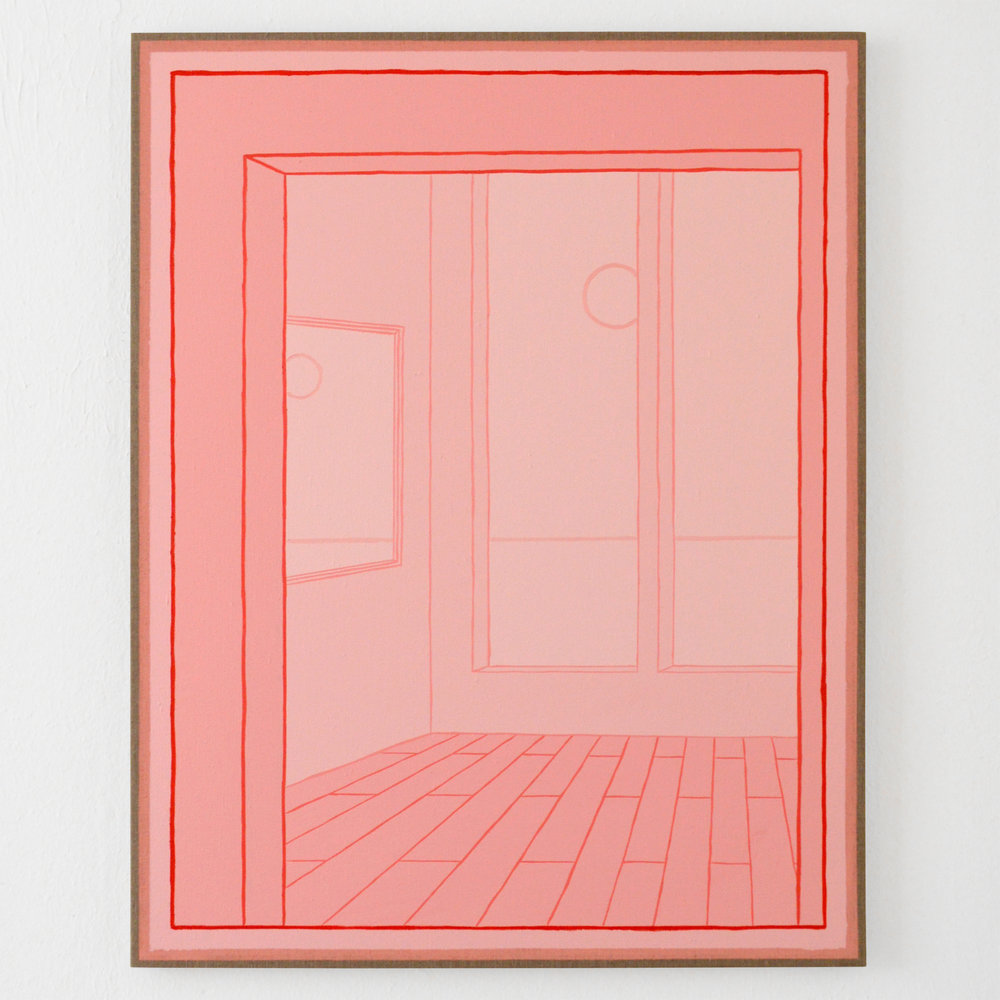 Behrens Haus, 2018 Oil and acrylic on linen, 46 x 36 in.