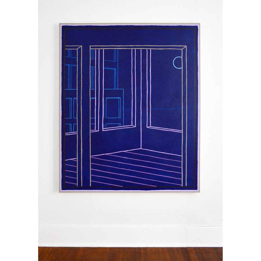 Rietveld Schröderhuis, 2018 Oil and acrylic on linen, 60 x 50 in.