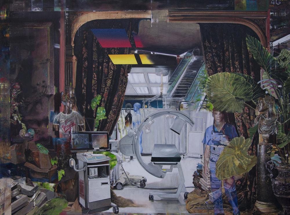 Sam Creasey   Sick, 2017 Oil on canvas   150 x 200 xcm