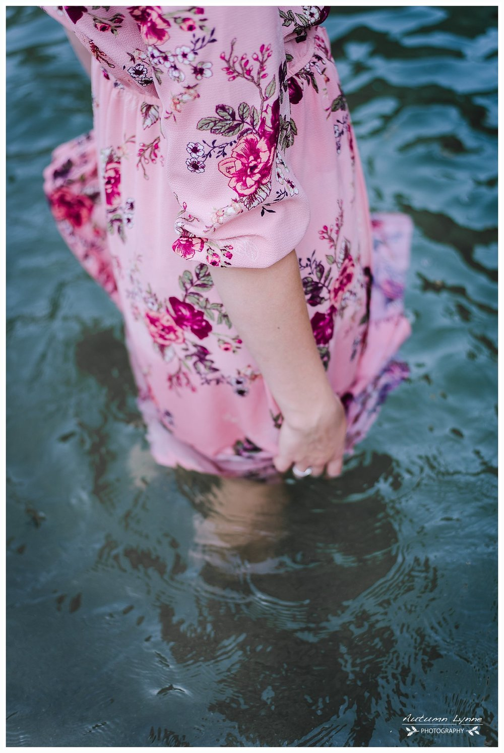 dress in water photography