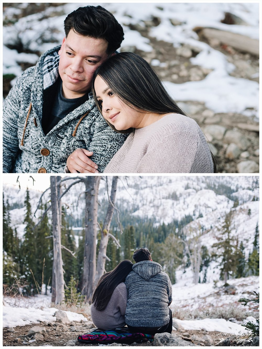 couple-snuggling-idaho-high-mountain-lake
