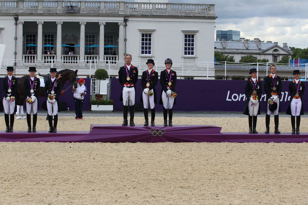 (GBR)Gold,(GER)Silver,(NED)Bronze,TeamDressage, London Olympics 2012.jpg