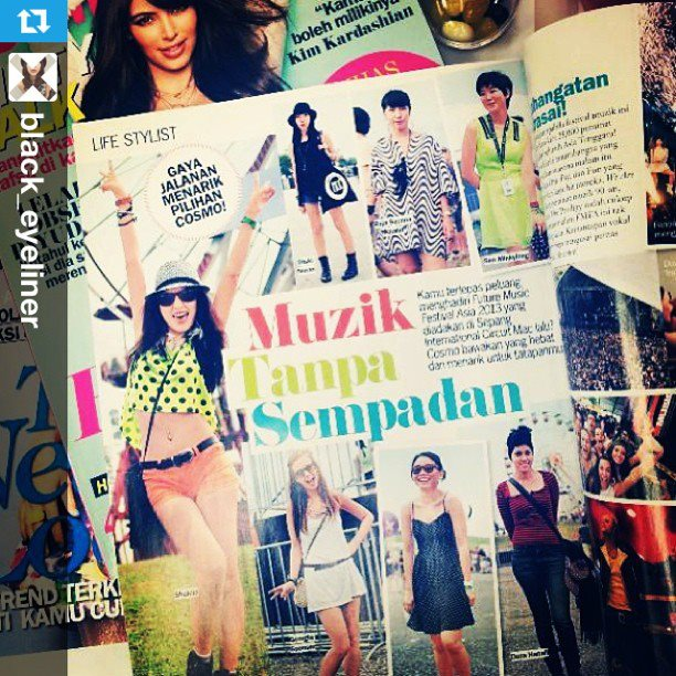 Tote by HON spotted in Cosmopolitan Malaysia magazine.