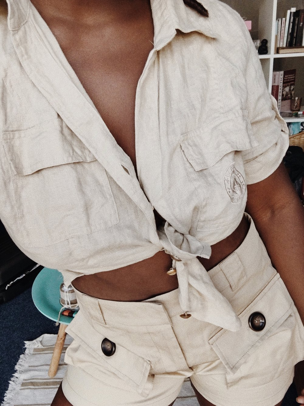 Who says beige is boring_ No no, boo not if you style it right! (Top_ thrift shop, shorts_ Stradivarius).jpg