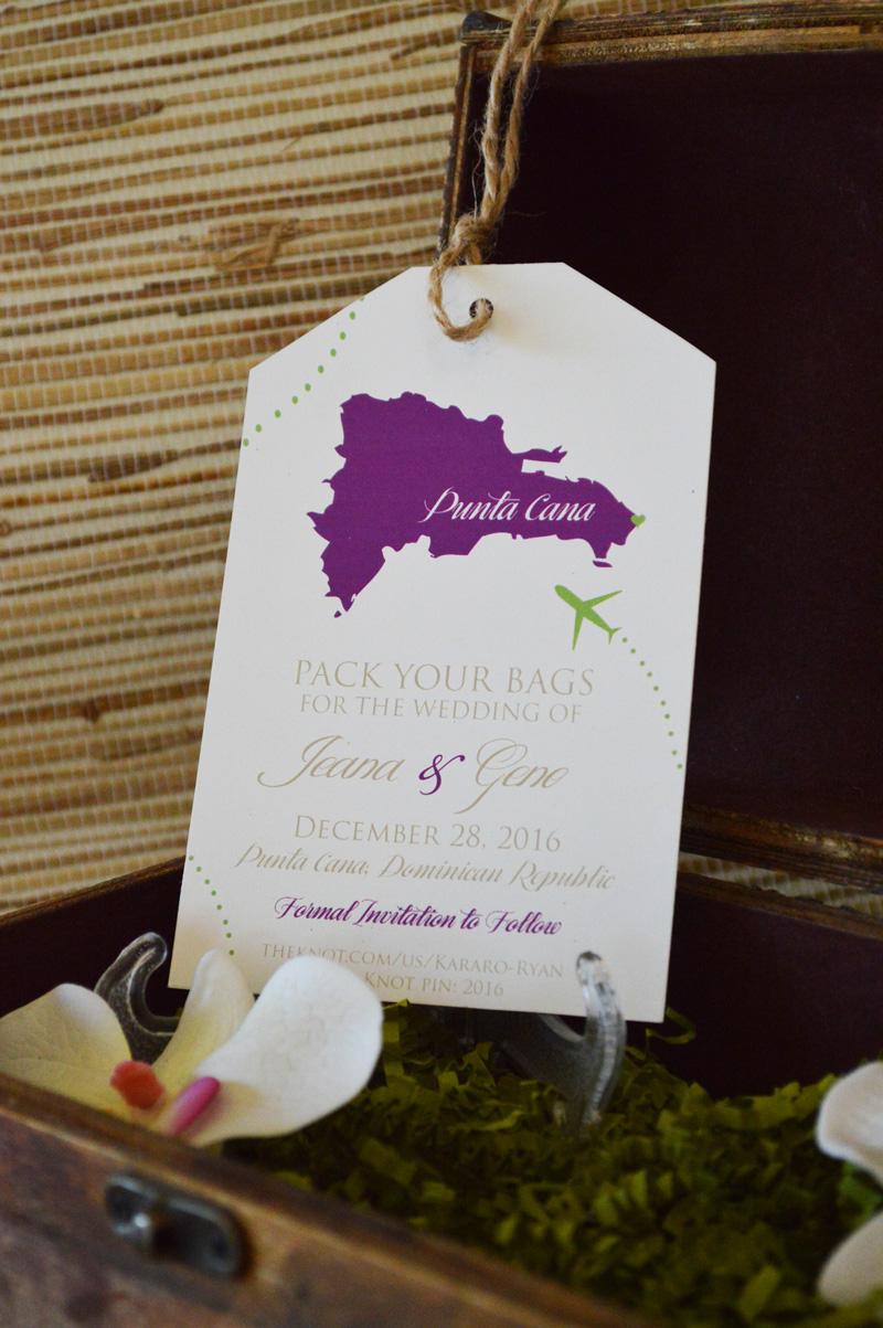 Copy of renoweddinginvitations.com | Destination Wedding Luggage Tag Destination Save The Dates | The Stylish Scribe | Reno Wedding Invitations