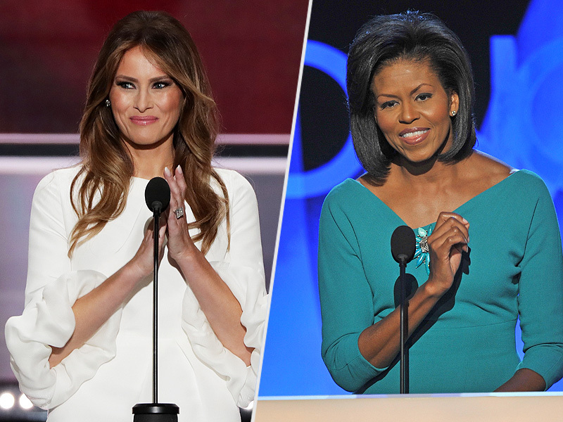Melania Trump (2016) / Michelle Obama (2008)