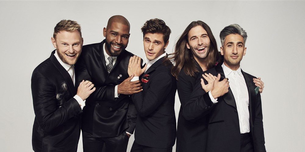 "The cast of Netflix's ""Queer Eye"" reboot includes (L-R) Bobby Berk, Karamo Brown, Antoni Porowski, Jonathan Van Ness and Tan France 