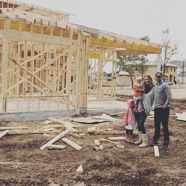 Got to visit the site of the new house 😭 Having trouble with the magnitude of this blessing. And both next door lots are available, guys. Who wants to be our neighbors??? #happythanksgivng 📷 by @krisjstock