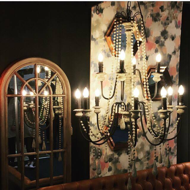 Gorgeous lighting from  PM Lighting  with furniture from  Paul Hampton Homes  both based in Boucher Road, Belfast. Love this beaded chandelier.