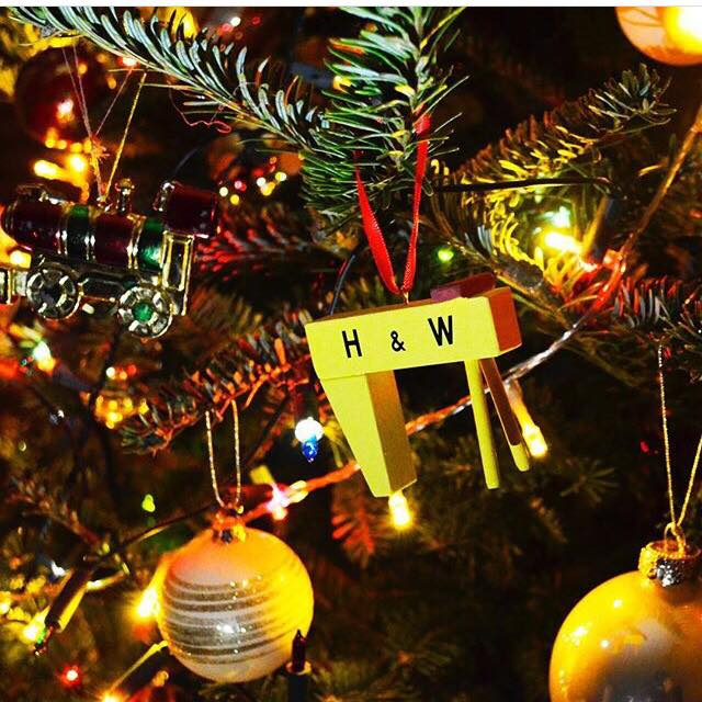 Cowfield Design  mini Samson/ Goliath cranes- I spotted these mini versions of the full size cranes in Studio Souk and thought they would be perfect as a tree decoration and then can be used as a keepsake for rest of the year! Available from Studio Souk and online
