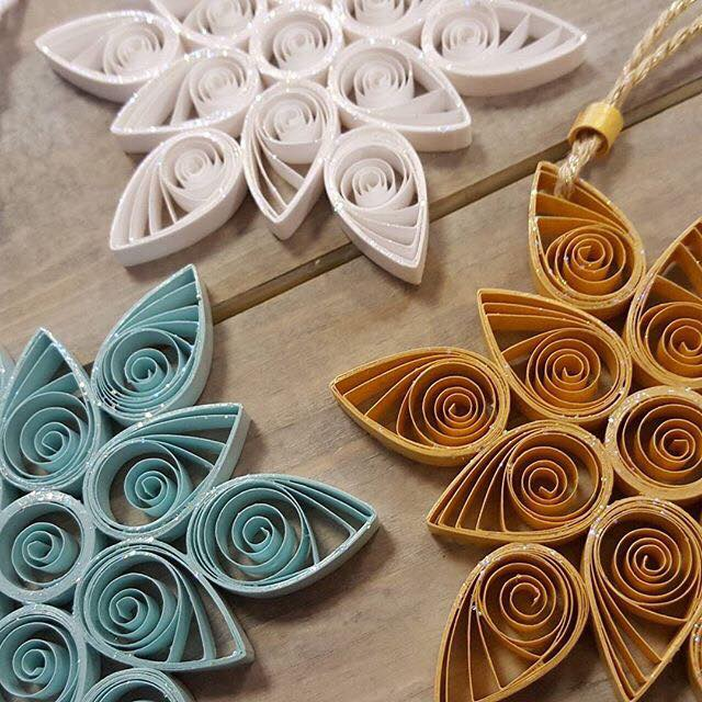 And lastly these intricate paper snowflake/ stars from Quilling bee available at The Craft Room, Comber.