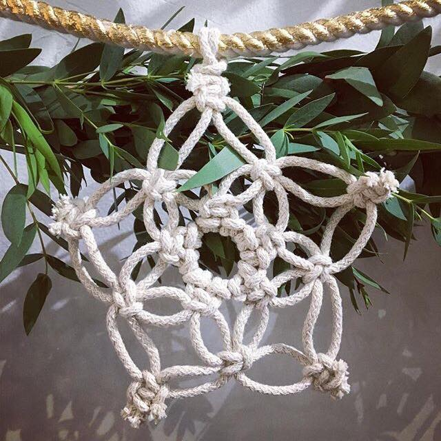 These delicate snowflakes are handmade by  Astrl Fibres  and are available from Studio Souk, Woven and online. She also had workshops to make your own garlands so watch out for those next year!