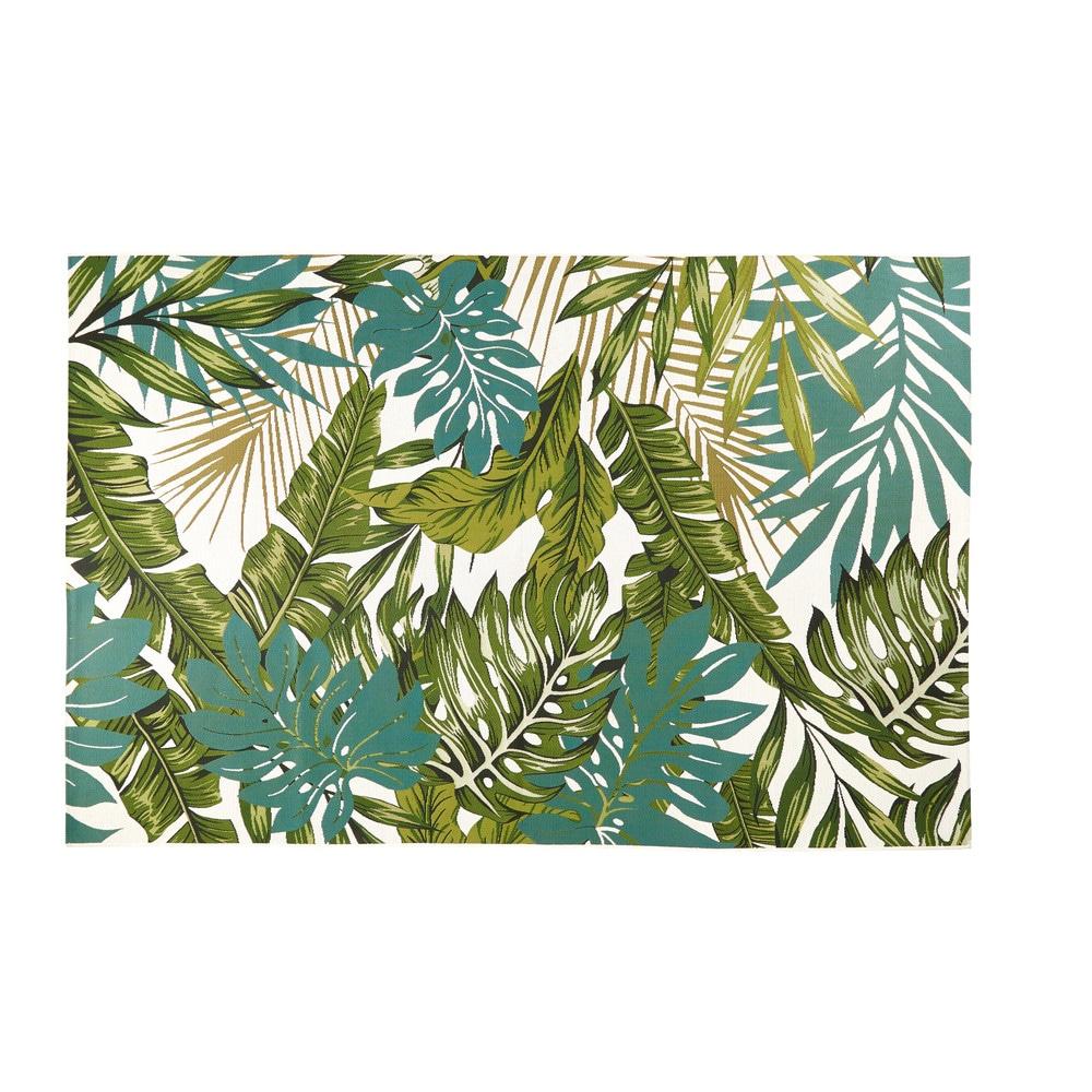 Maisons du Monde leaf print rug