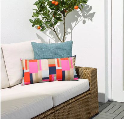 Outdoor cushion from Ikea