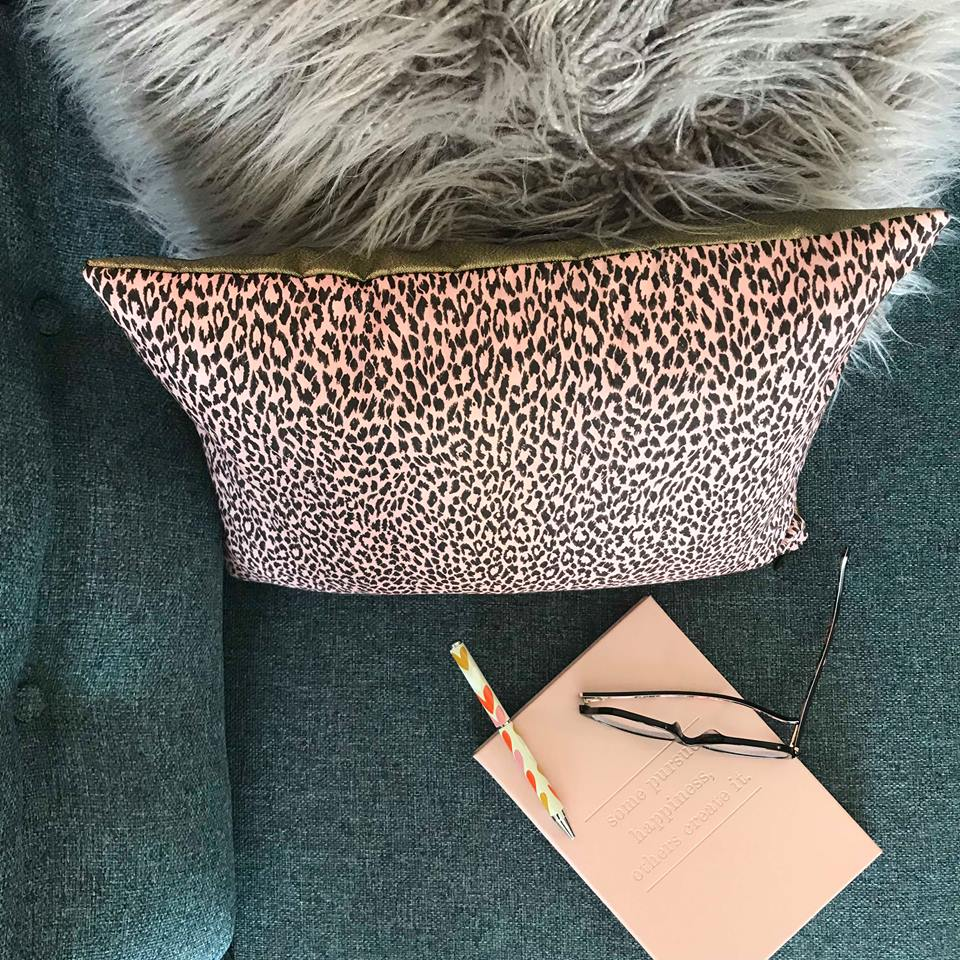 House of Hackney pink leopard cushion