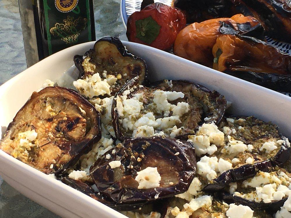 Low FODMAP Barbequed Eggplant and Feta Salad 2