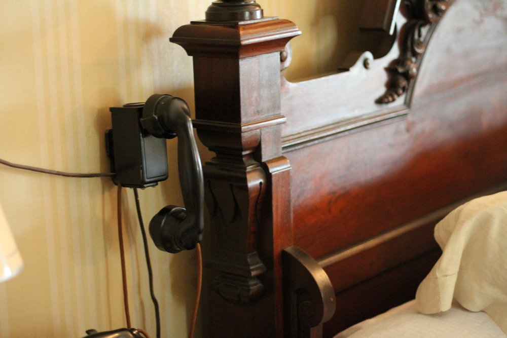 Bedside phone with a direct line to the White House.