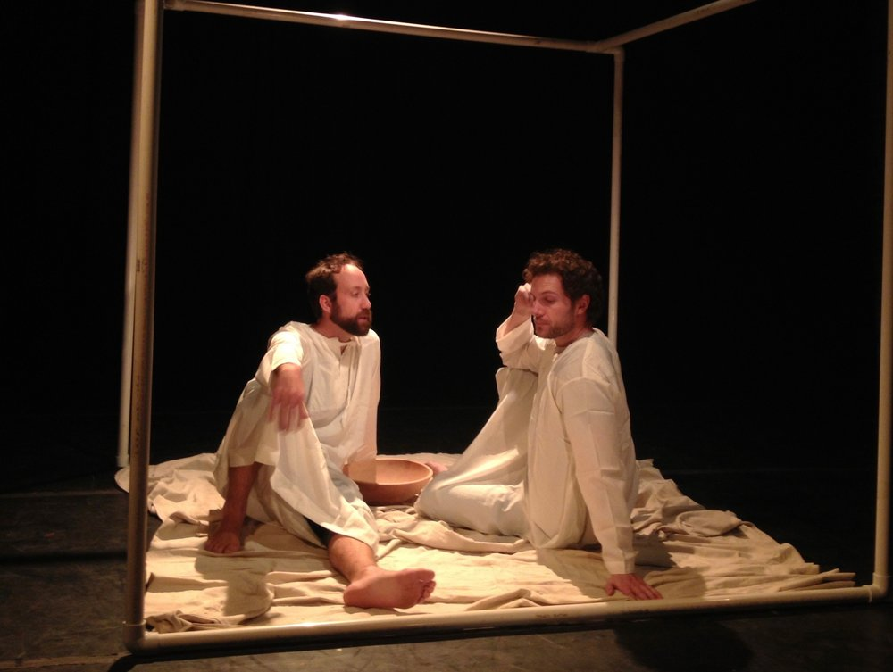 The Moly Spirit   Jesus discloses a dark secret to his disciple Peter.  Production Tiny Theatre Festival at The Brick Brooklyn, New York - 2013