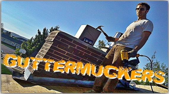 Guttermuckers (Feature - Comedy)   A couple of ragtag roofers experience a series of misadventures on their quest to start a roofing company. Co-written with Brick Patrick.