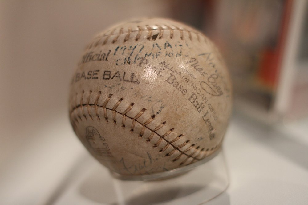 Ball from the All-American Girls Professional Baseball League - 1947.