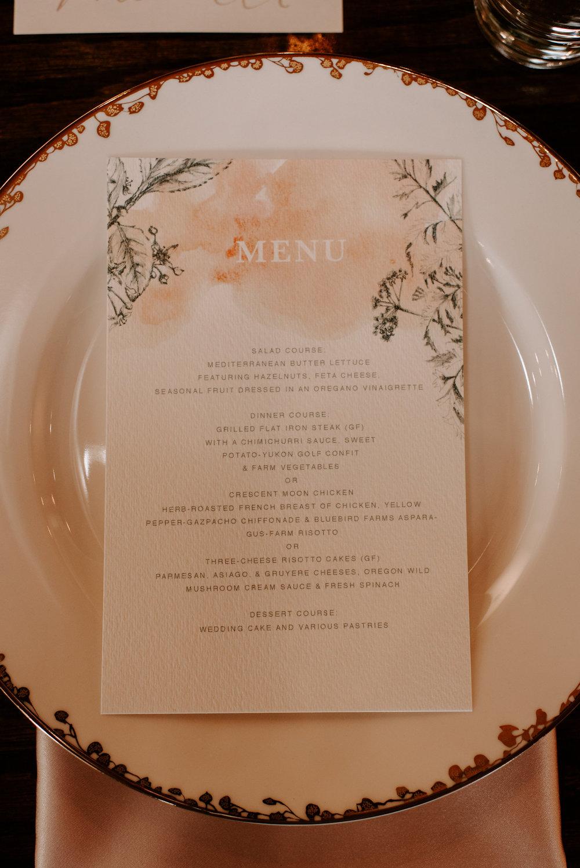 Copy of Copy of Plated Wedding Menu