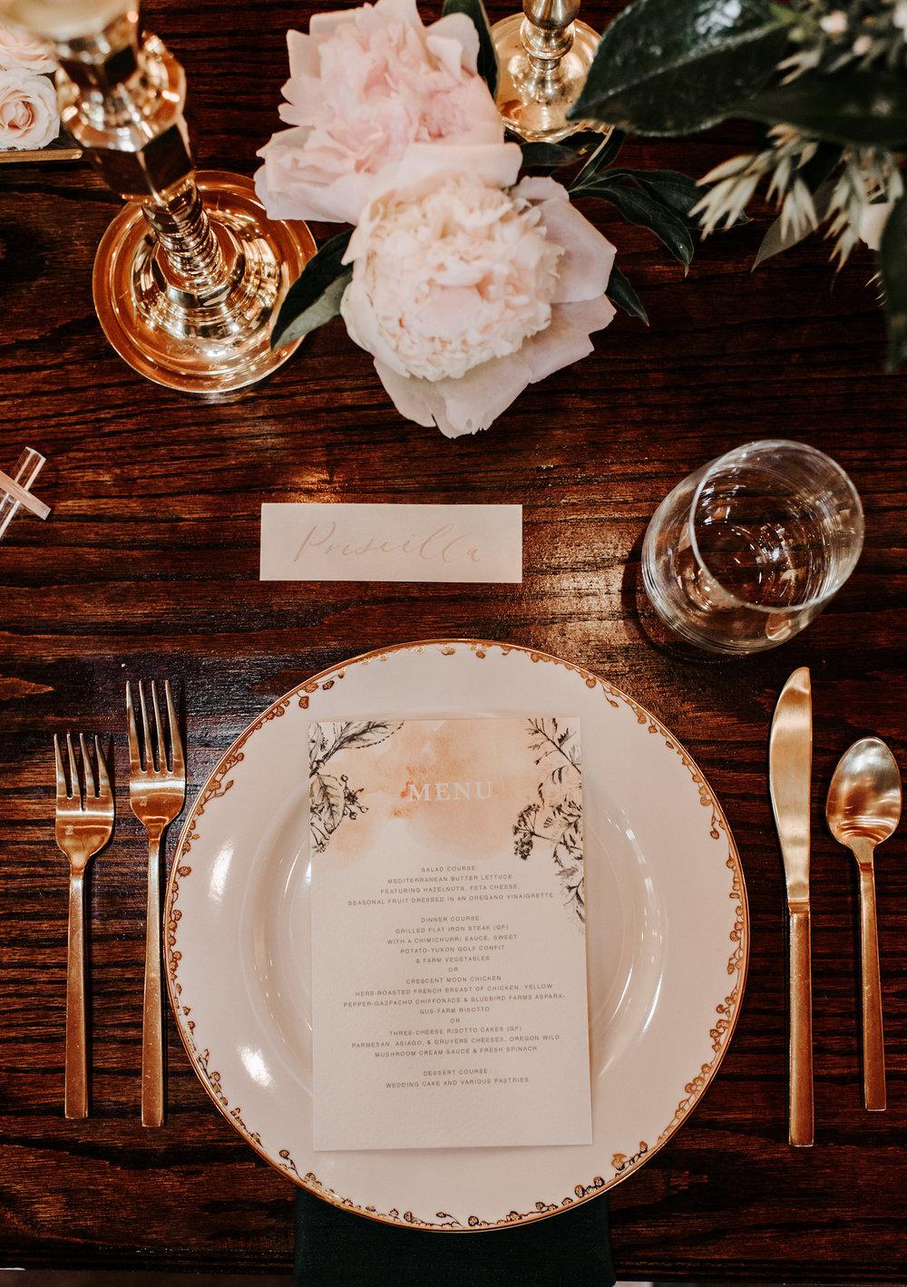 Copy of Copy of Elegant Wedding Table setting