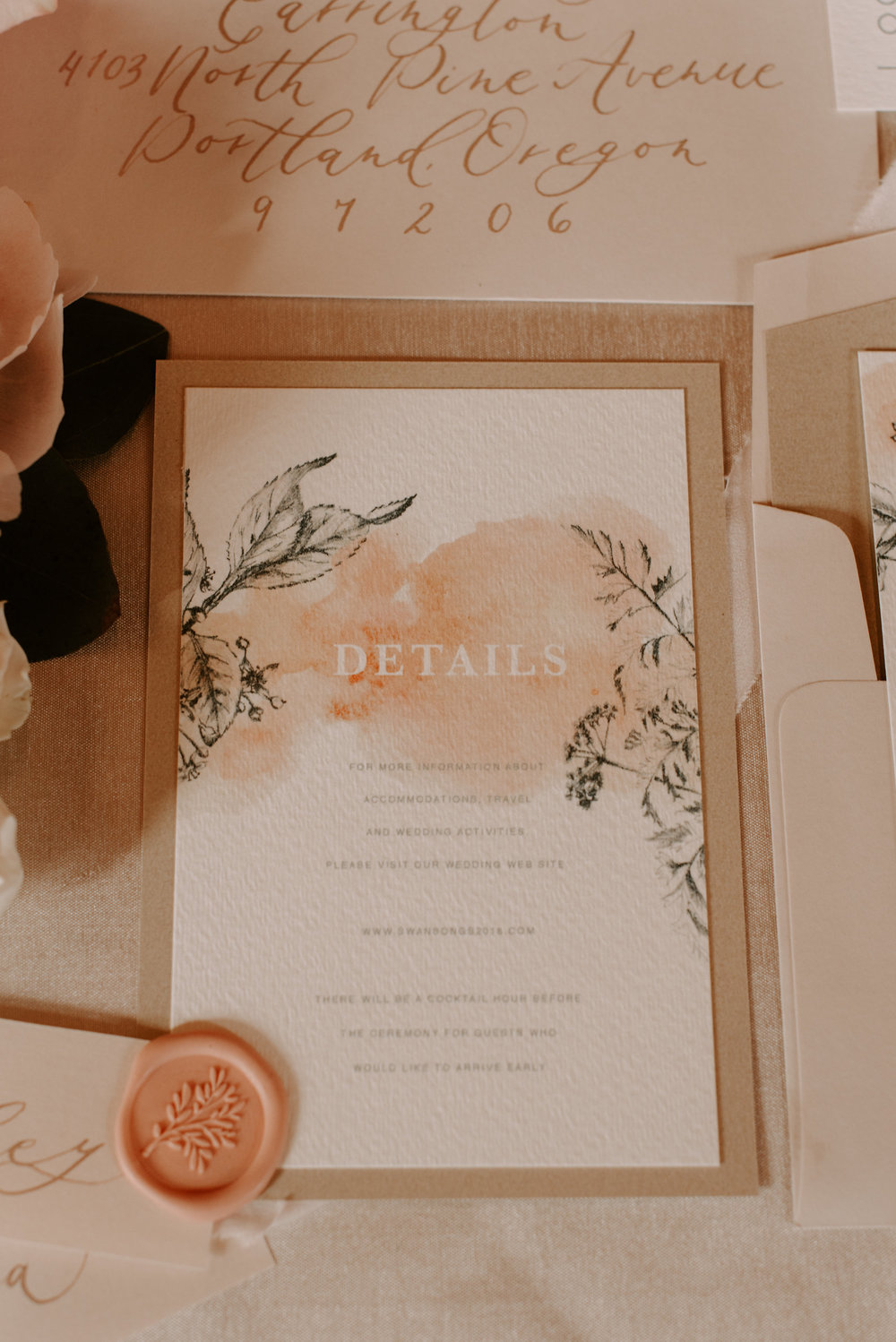 Copy of Copy of Wedding Invitations: Details, Letters & Dust