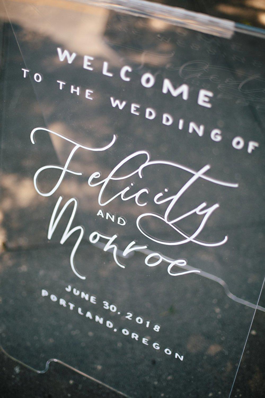 Copy of Summer Garden Wedding: Signage