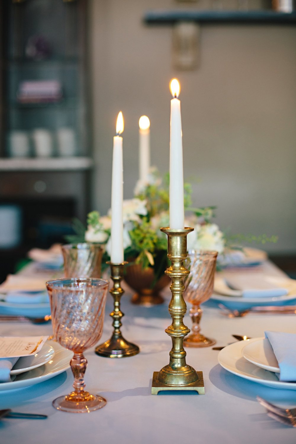 Copy of Summer Garden Wedding: Tabletop Details: Candlelight