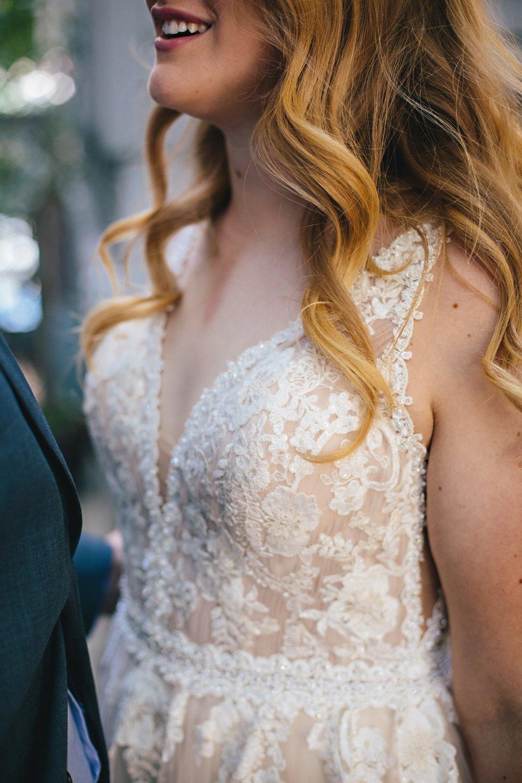 Copy of Summer Garden Wedding: Bridal Gown Details