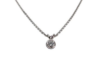 WHITE GOLD + SOLITAIRE DIAMOND NECKLACE